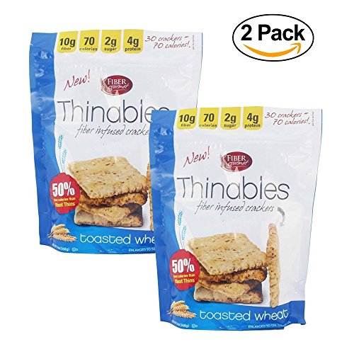 Fiber Gourmet, Thinables, Low Carb Crackers, 6 Oz.(PACK OF (Carb Cracker)
