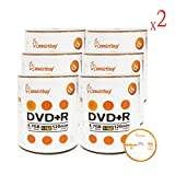 Smart Buy 1200 Pack DVD+R 4.7gb 16x Logo Blank Data Video Movie Recordable Disc, 1200 Disc 1200pk