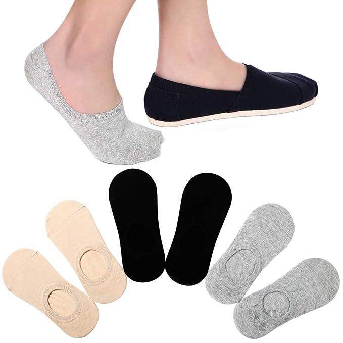 Amazon.com: Calcetines para mujer de corte bajo, con agarre ...