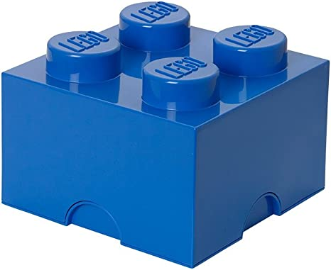 Plast Team 4003 - Caja en forma de bloque de lego 4, color azul ...
