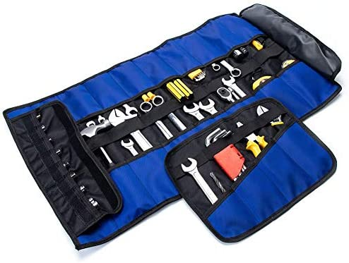 Hand Tools Organizer Craftsman Pouch Bag Wrap Small Wrench Roll 16 pockets