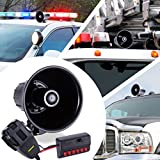 6 Tone Sound Car Siren Vehicle Horn w/ Mic PA