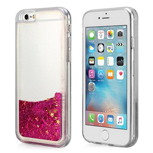 iPhone 6S Plus Case, ESeekGo Floating Liquid Case for iphone 6 Plus Soft Cover TPU Bumper Bling Bling