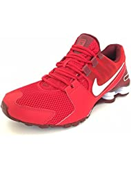 NIKE Mens Shox Avenue PRM University Red/White/-Team Red Running Shoes