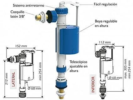 Idrospania 21300 Grifo Flotador Compacto Alimentación Lateral/Inferior Cierre Por Piston