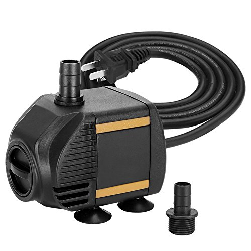 KEDSUM 120GPH Submersible Pump(550L/H,9W),Ultra Quiet Water Pump with 2.6ft High Lift, Fountain Pump with 5 ft Power Cord, 2 Nozzles for Fish Tank,Pond,Aquarium,Statuary,Hydroponics 550 Gph Powerhead Pump