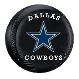 Fremont Die Dallas Cowboys NFL Spare Tire Cover (Large) (Black) FMT-98303
