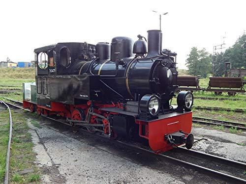 - Home Comforts Canvas Print Wagons Locomotive Train Rails Narrow-Gauge Railway Vivid Imagery Stretched Canvas 32 x 24