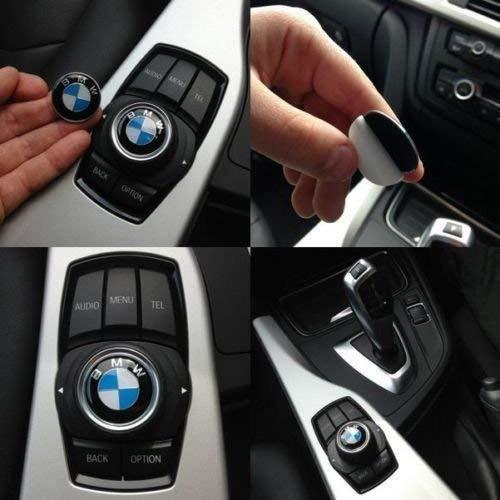 OSIRCAT 2 Pieces BMW 29mm Multimedia Control Badge Alloy Sticker for BMW M 1 3 5 x1 x3 x5 x6 GT
