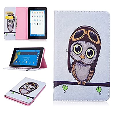 Voberry Folding Stand Painted Leather Case Cover For Amazon Kindle Fire 7 2015 Tablet
