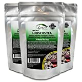 Cheap Hibiscus Tea Bags 3-Pack 100% Pure (90 premium bags) bursting with all-natural antioxidants by Zokiva Nutritionals