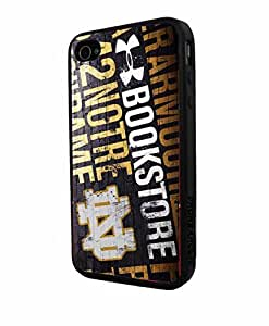 diy zhengNCAA ND Notre Dame Text, Cool iphone 5c/Case Cover Collector iPhone TPU Rubber Case Black