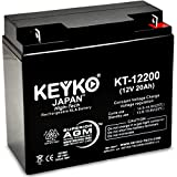 Solar Booster Pac ES2500 Jump Starter Battery 12V 22Ah SLA Sealed Lead Acid Rechargeable AGM Replacement Battery Genuine KEYKO (W/ L-1 Terminal)