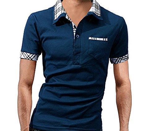 【 スマイズ スマイル 】 Smaids×Smile メンズ 半袖 ポロシャツ おしゃれ 重ね着 柄 ゴルフ 襟