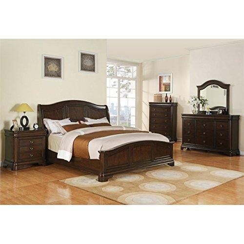Picket House Furnishings Conley 5 Piece Queen Bedroom Set in Cherry