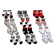 Disney Baby Boys Mickey Mouse Character Assorted Color Socks, 12 Pair Set, Age 0-6 Months