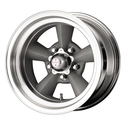 "American Racing Hot Rod TTO VN309 Painted Gray Wheel with Machined Lip (15x7""/5x127mm)"