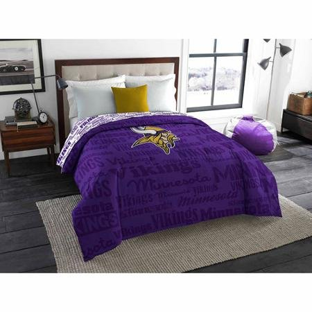 NFL Anthem Twin/Full Bedding Comforter Only, Minnesota Vikings (Minnesota Vikings Bedding)
