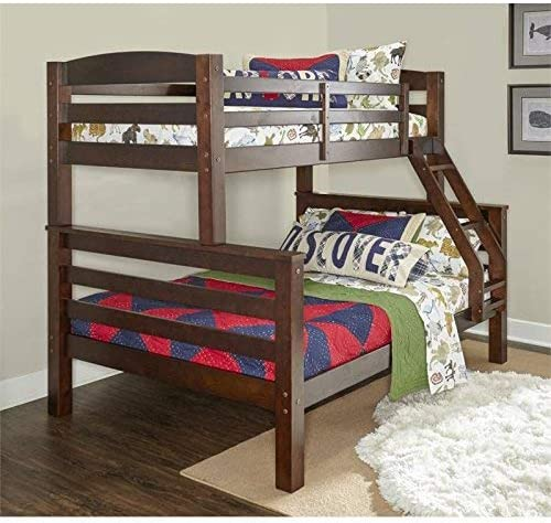 Powell Bunk Bed, Twin Full, Espresso