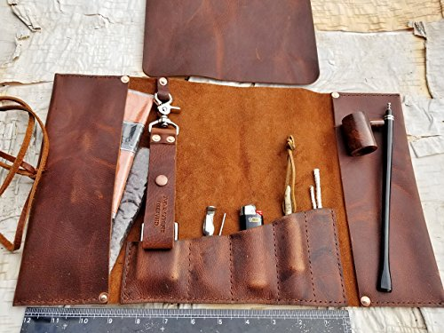 Aficionado X-Large Leather Pipe/Cigar & Tobacco Pouch by Charred Embers & Oak