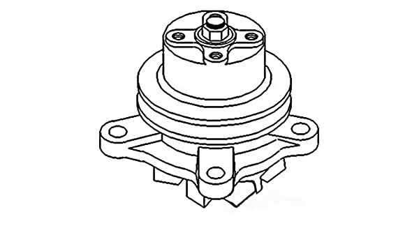 Amazon Com 15611 73030 Water Pump For Kubota Tractor Models M4050