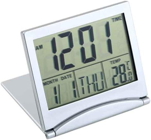 Mengonee Pantalla LCD Reloj Despertador Escritorio Termómetro ...