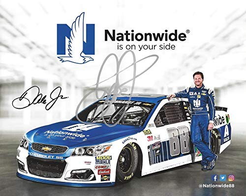AUTOGRAPHED 2017 Dale Earnhardt Jr. #88 Nationwide Racing FINAL SEASON RETIREMENT (Hendrick Motorsports) Monster Energy Cup Series Signed Collectible Picture 8X10 Inch NASCAR Hero Card Photo with COA