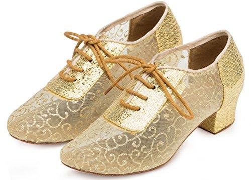 pour Chaussures professionnelles femmes mode confort jaune YYC maille L133 de danse talon CFP professionnel nPEY7qpw