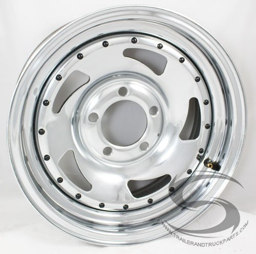 - TBC 14 x 6 Chrome Blade Trailer Wheel 5 on 4.50