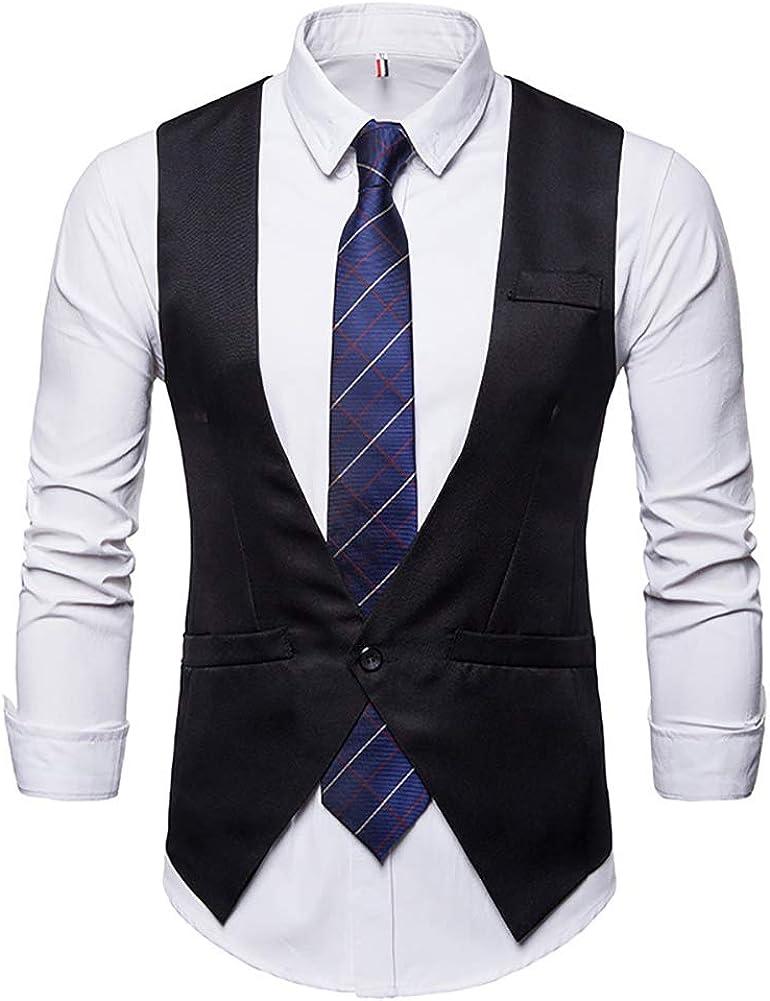 acelyn Chaleco cl/ásico de Cachemira para Hombre de Tweed Chaleco de Ajuste Delgado