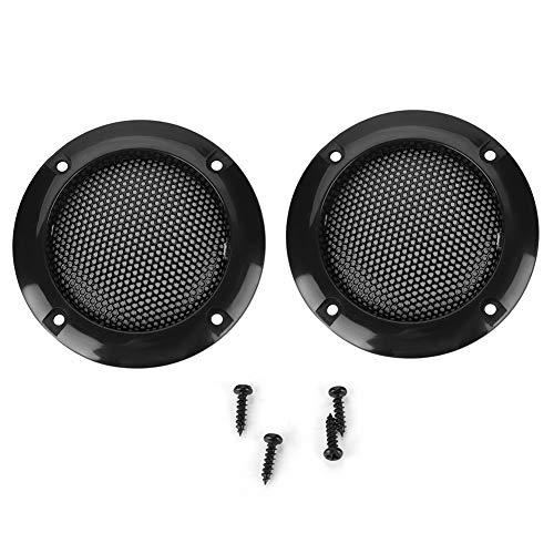 Luidspreker gaasafdekking, 2 inch luidspreker Decoratieve stalen gaascirkel Autoluidspreker Subwoofer Beschermende…