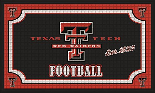 Team Sports America Texas Tech Red Raiders Embossed Floor Mat, 18 x 30 inches
