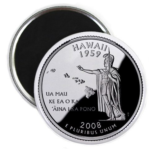 Hawaii State Quarter Mint Image 2.25 inch Fridge Magnet