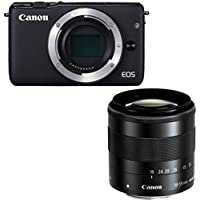 Canon EOS M10 Mirrorless Digital Camera with 18-55mm (Black) - International Version (No Warranty)