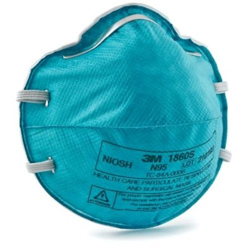 3M Health Care 1860S Particulate Respirator Mask Cone, Molded, Small (Pack of 120)