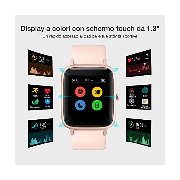 Smartwatch Orologio Fitness Donna, UMIDIGI Uwatch3 Fitness Tracker Bluetooth Smart Watch Donna Uomo Bambini… 3