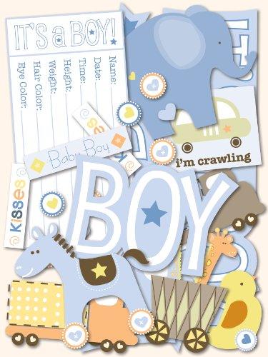 K&Company Baby Boy Diecuts - Scrapbooking Paper Baby