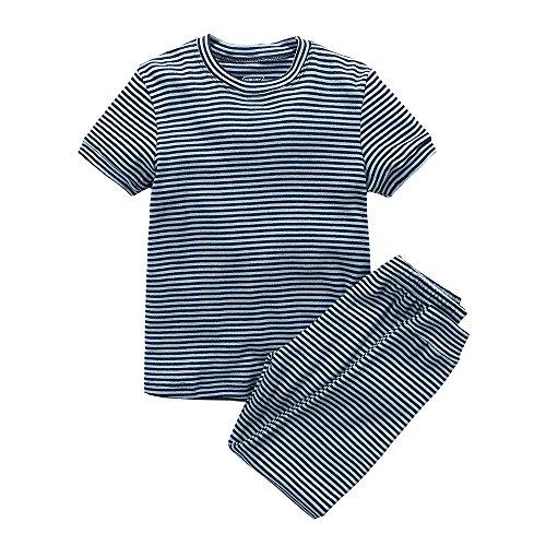 Navy Blue Boys Pajamas - 8