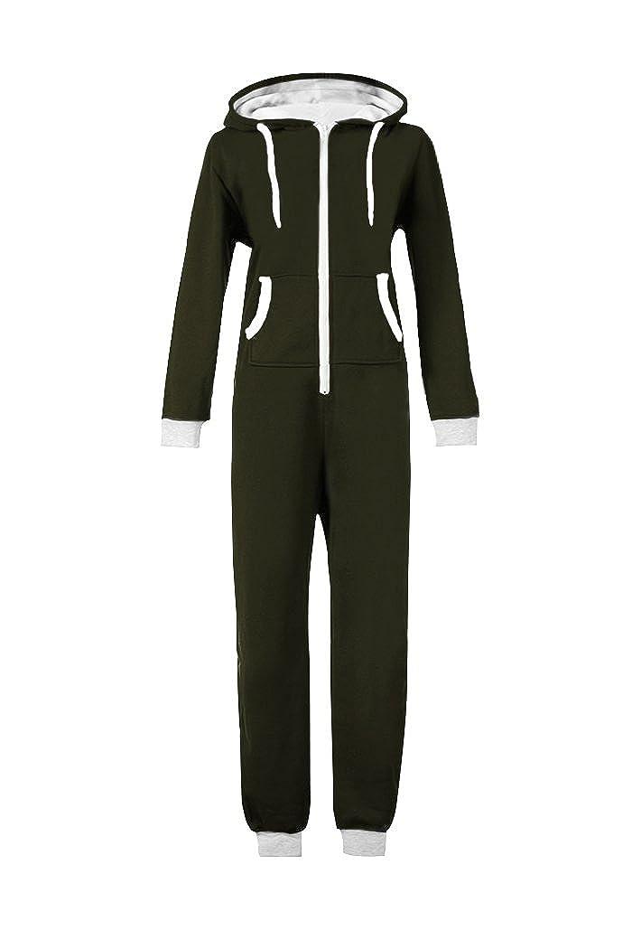 WOTOGOLD Men And Women Black Blue Pajamas Sportswear Hooded Unisex Jumpsuit APP0208