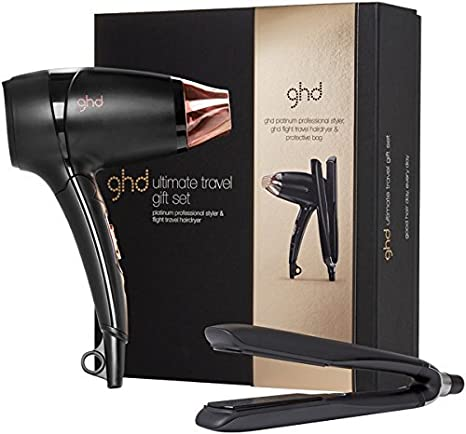 Set de regalo para viaje definitivo ghd edición limitada con plancha para el pelo Platinum + secador de pelo de viaje ligero: Amazon.es: Belleza