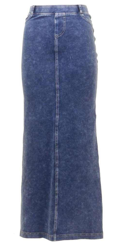 Hardtail Long Denim Skirt (L, Medium)