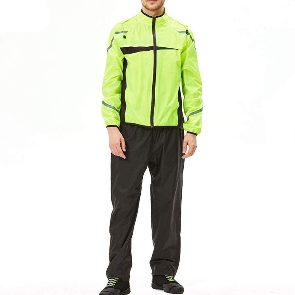 LXESWM Reflektierende Jacke Fahrradjacke Radjacke Reflektierende Jacke Reflektierende Laufbekleidung Mit Hoher Sichtbarkeit wasserdichte Jacken Mit Kapuze Leichte Und Atmungsaktive wasserdichte Hose