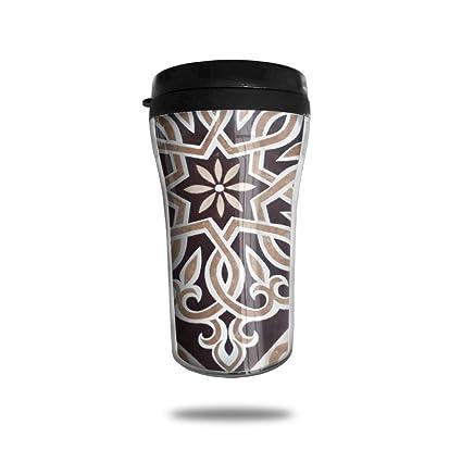 3047e84febb FTRGRAFE Rhomboid Fabric Pattern Travel Coffee Mug 3D Printed Portable  Vacuum Cup,Insulated Tea Cup