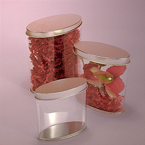 24OZ CLEAR OVAL PVC TIN CAN-PACKAGE by Paper Mart