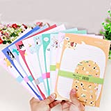 SCStyle Envelopes 6.1 Inches x3.35 Inches,30 Cute Lovely Kawaii Special Design Writing Stationery Writing Paper 9.25Inches x6.3 Inches and 15 Envelopes,Stationary Paper and Envelopes Set