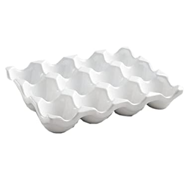 Ceramic Egg Crate 12-cup, White