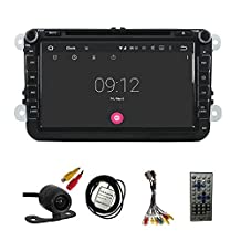 TLTek 8 inch HD 1024*600 Muti-touch Screen Car GPS Navigation System For Volkswagen Passat / Golf / Tiguan / Jetta / CC 2006-2012 Android DVD Player+Backup Camera+North America Map