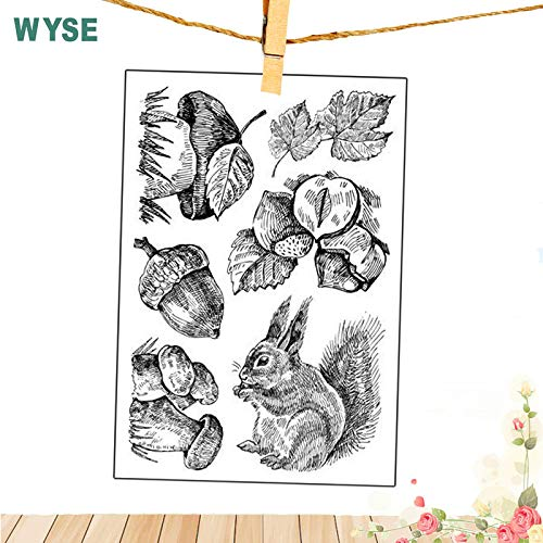 Eyeshadow Stamp- Mermaid Stamps New Animal Owl Squirrel Stamps Easter Rabbit Clear Stamps Silicone Transparent Stamp for Scrapbooking DIY Tools