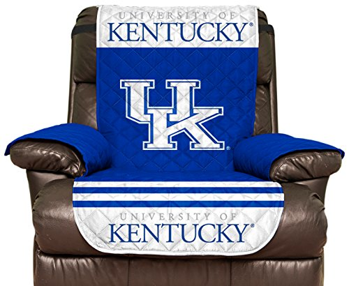 Pegasus Sports NCAA Kentucky Wildcats Furniture Protector with Elastic Straps, Recliner, Royal Blue -