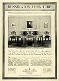 1928 Ad Dinning Table American Hepplewhite Mahogany Furniture Kensington Decor - Original Print Ad
